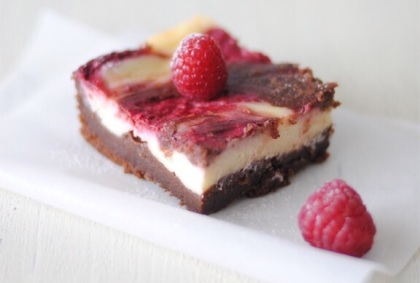 USA - Brownies formaggio e lamponi
